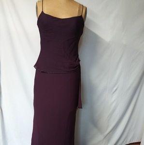 Beautiful Chiffon long dress - purple